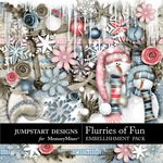 Flurries of Fun Embellishment Pack-$2.99 (Jumpstart Designs)