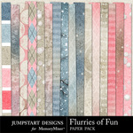 Flurries of Fun AddOn Paper Pack-$3.49 (Jumpstart Designs)
