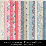 Flurries of Fun Paper Pack-$3.49 (Jumpstart Designs)