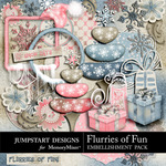 Flurries of Fun Embellishment Add On Pack-$3.99 (Jumpstart Designs)