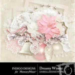 Dreamywinter embellishments medium