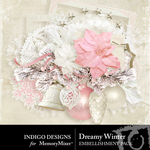 Dreamywinter embellishments small
