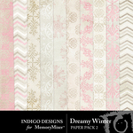 Dreamy Winter Paper Pack 2-$2.99 (Indigo Designs)