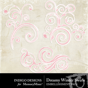 Dreamywinter swirls medium
