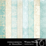 Winter Miracle Paper Pack 2-$2.99 (Indigo Designs)