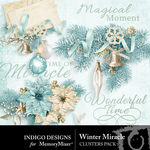 Winter Miracle Cluster Pack-$1.99 (Indigo Designs)