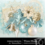 Winter Miracle Embellishment Pack-$2.99 (Indigo Designs)