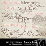 Gentle Love Word Art-$2.49 (Fly Pixel Studio)