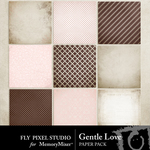 Gentle Love Paper Pack-$3.49 (Fly Pixel Studio)