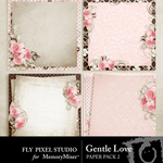 Gentle Love Stacked Paper Pack-$3.49 (Fly Pixel Studio)