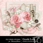 Gentle Love Embellishment Pack-$2.99 (Fly Pixel Studio)