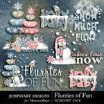 Flurries of Fun WordArt Pack-$2.99 (Jumpstart Designs)