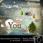 Snowy Dreams WordArt-$2.49 (MagicalReality Designs)