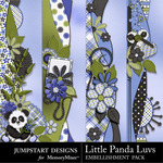 Little Panda Luvs Borders-$1.99 (Jumpstart Designs)