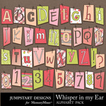Whisper in my Ear Alpha-$3.49 (Jumpstart Designs)