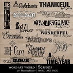 Seasons WordArt-$2.49 (Word Art World)