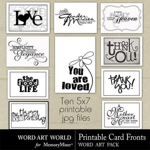 Printable card fronts medium