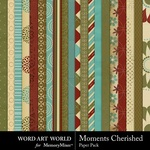 Moments Cherished Paper Pack-$3.49 (Word Art World)