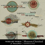 Moments Cherished Clusters-$2.49 (Word Art World)