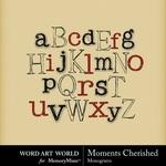 Moments Cherished Alpha-$0.99 (Word Art World)