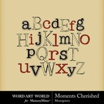 Moments Cherished Alpha-$1.00 (Word Art World)