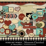 Moments Cherished Embellishment Pack-$2.49 (Word Art World)