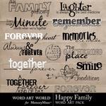 Happy Family WordArt-$2.49 (Word Art World)