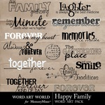 Happy Family WordArt-$1.99 (Word Art World)