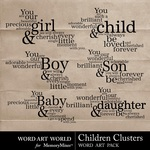 Children Clusters WordArt-$2.49 (Word Art World)