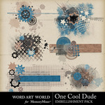 One Cool Dude Clusters-$2.49 (Word Art World)