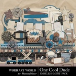 One Cool Dude Embellishment Pack-$3.29 (Word Art World)