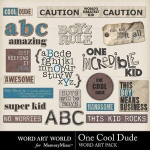 One cool dude word art medium