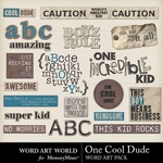 One Cool Dude WordArt-$3.99 (Word Art World)