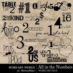 All in the Numbers WordArt-$2.49 (Word Art World)