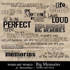 Big memories medium