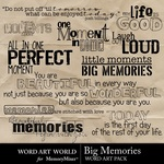 Big Memories WordArt-$2.49 (Word Art World)