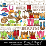 Cowgirl Happy Emb-$2.99 (Tara Reed Designs)