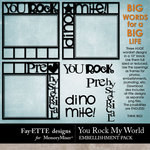 You Rock My World Big Words-$2.99 (Ettes and Company by Fayette)