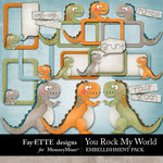 You Rock My World Whimsy Dinos-$1.99 (Ettes and Company by Fayette)