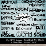 You Rock My World WordArt-$2.49 (Fayette Designs)