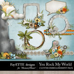 You Rock My World Clusters-$2.49 (Fayette Designs)