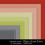 Days of Our Lives Embossed PP-$1.99 (Lindsay Jane)