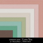 Love You Embossed PP-$1.99 (Lindsay Jane)
