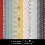 Dog Days Paper Pack-$3.49 (Lindsay Jane)