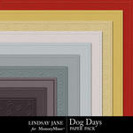 Dog Days Embossed PP-$1.99 (Lindsay Jane)