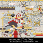 Dog Days Embellishment Pack-$3.49 (Lindsay Jane)