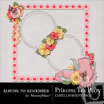 Princess TeaParty Cluster Pack-$2.49 (Albums to Remember)