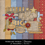 Dreams Mini Pack-$3.99 (Word Art World)