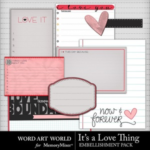 It s a love thing journal cards medium
