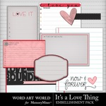 Its a Love Thing Embellishment Journal Cards Embe-$2.99 (Word Art World)